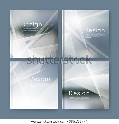 Abstract polygonal composition, gray business card set, sale info text, elegant geometric font texture, brochure title sheet, creative figure icon, silver rays plexus, outer space flyer fiber, EPS10 banner form - stock vector