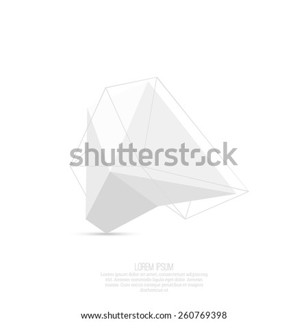 Abstract polygonal geometric shape. low poly and minimal style. Vector illustration - stock vector