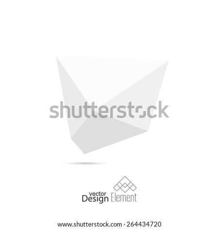 Abstract polygonal geometric shape. low poly and minimal style. Vector illustration