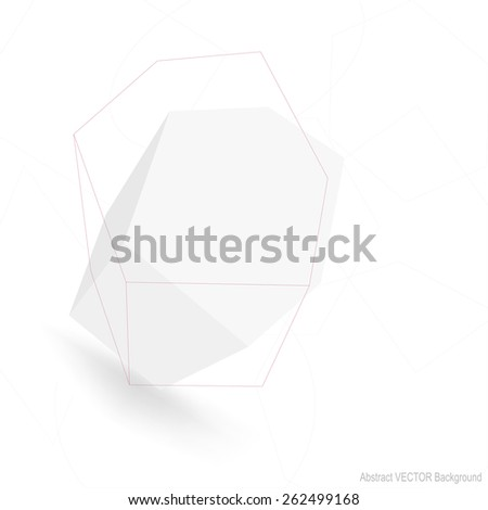 Abstract polygonal geometric shape. Minimal style and low poly. - stock vector