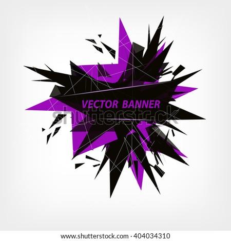 Abstract polygonal geometric vector banner. - stock vector