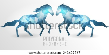 Abstract polygonal horse. Geometric hipster illustration. Polygonal horse