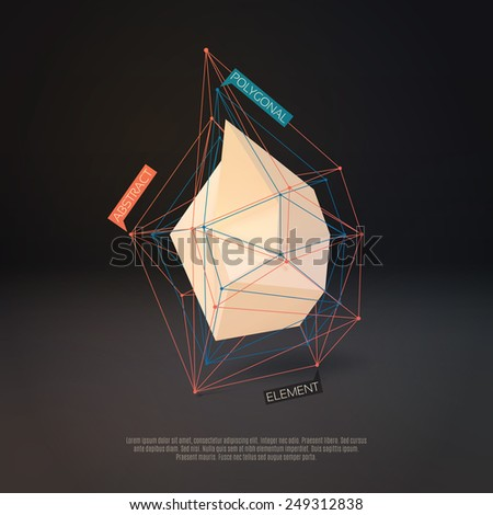 Abstract polygonal infographics element. Vector Illustration EPS10 - stock vector