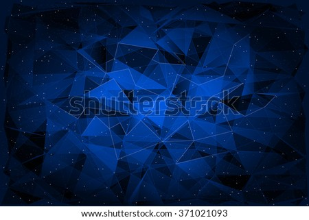 Abstract Polygonal on dark Background, Geometric Illustration. Vector EPS10
