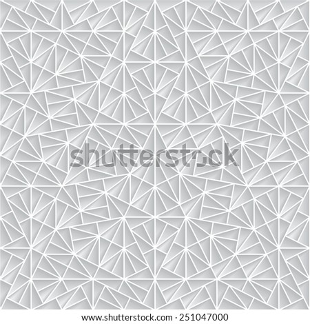 Abstract polygonal paper ornament, vector background, seamless geometric pattern - stock vector