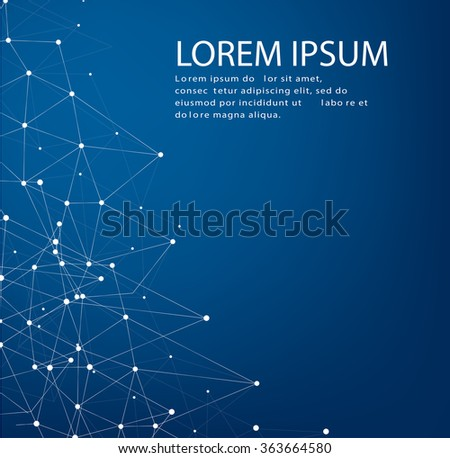 Abstract polygonal space low poly background with connecting dots and lines. Connection structure. Vector science background. Polygonal vector background. Futuristic HUD background.Techno. - stock vector