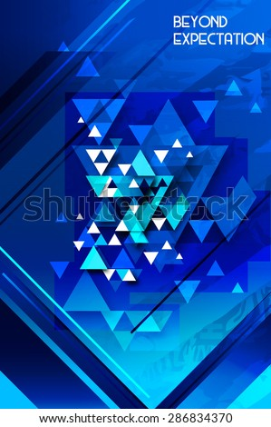 Abstract polygonal space low poly dark background abstract figures  - stock vector