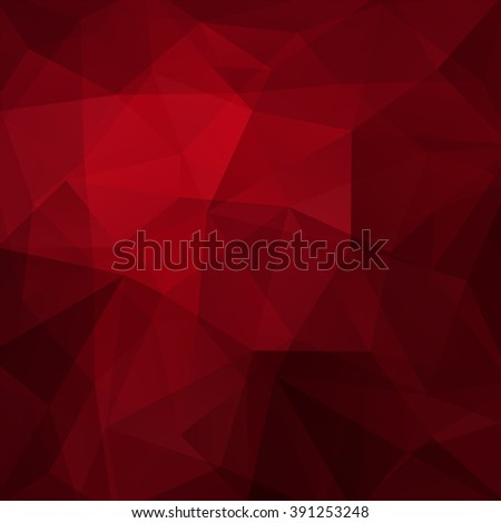 Abstract polygonal vector background. Colorful geometric vector illustration. Creative design template. Dark red color.  - stock vector