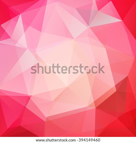 Abstract polygonal vector background. Colorful geometric vector illustration. Creative design template. Pink, red colors - stock vector
