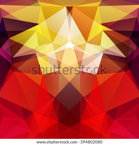 Abstract polygonal vector background. Colorful geometric vector illustration. Creative design template. Yellow, red, brown colors.  - stock vector