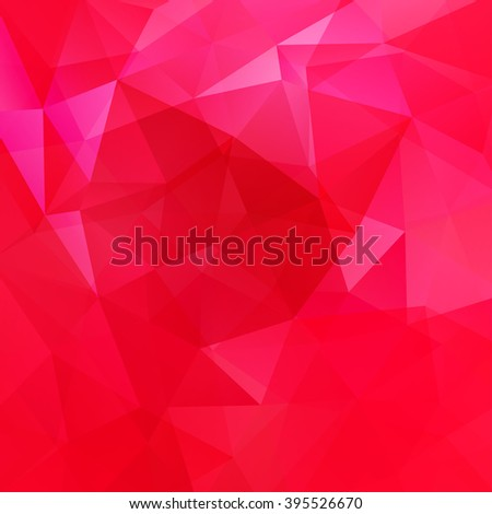 Abstract polygonal vector background. Colorful geometric vector illustration. Creative design template. Neon red, pink colors.  - stock vector
