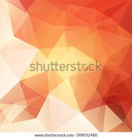 Abstract polygonal vector background. Colorful geometric vector illustration. Creative design template. Red, yellow, white colors.  - stock vector