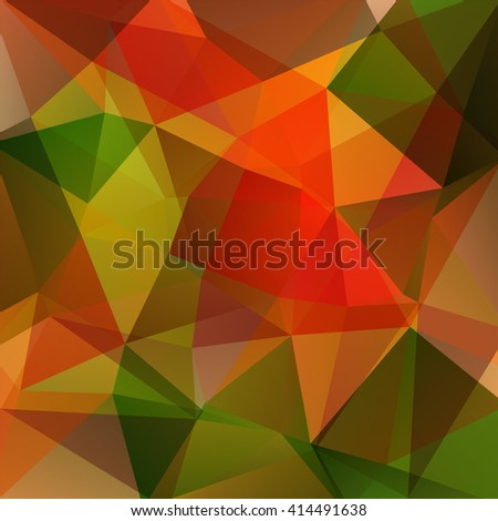Abstract polygonal vector background. Colorful geometric vector illustration. Creative design template. Red, orange, brown, green colors.  - stock vector