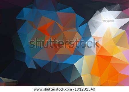 Abstract polygonal vector background. Eps 10.  - stock vector