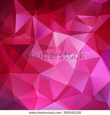 Abstract polygonal vector background. Pink geometric vector illustration. Creative design template.  - stock vector