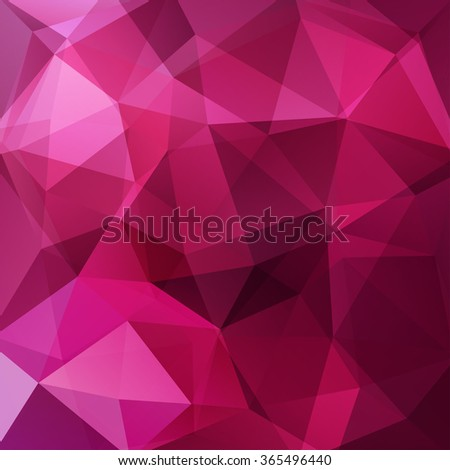Abstract polygonal vector background. Pink, purple colors. Colorful geometric vector illustration. Creative design template.  - stock vector