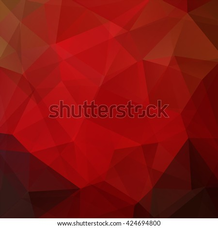 Abstract polygonal vector background. Red geometric vector illustration. Creative design template. Red, brown colors.  - stock vector