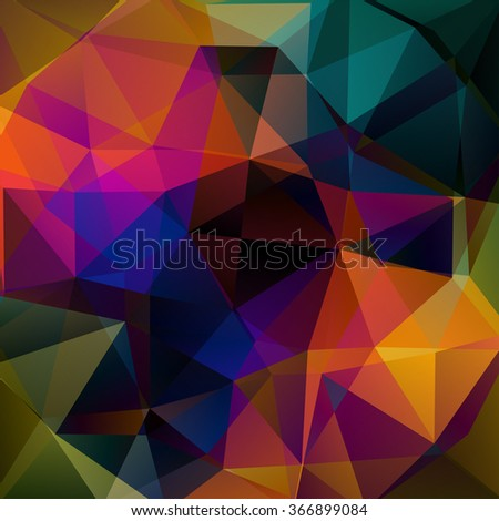 Abstract polygonal vector background. Red, orange, black, blue colors.  Colorful geometric vector illustration. Creative design template.  - stock vector
