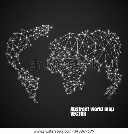 Abstract polygonal world map glowing dots stock vector hd royalty abstract polygonal world map with glowing dots and lines network connections vector illustration gumiabroncs Choice Image