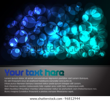 Abstract poster with place for your text - stock vector