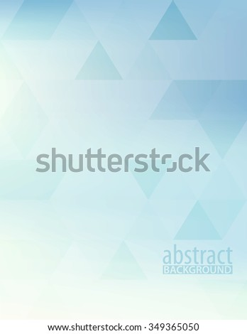 Abstract powder blue vertical pattern textured by triangles. Light pale vector background - stock vector