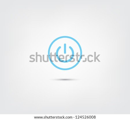 Abstract power button icon / button for websites (UI) or applications (app) for smartphones or tablets. Pictogram - stock vector