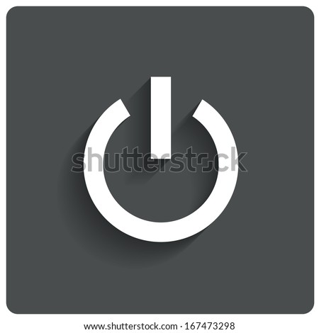 Abstract power button icon. Switch off symbol. Vector illustration. - stock vector