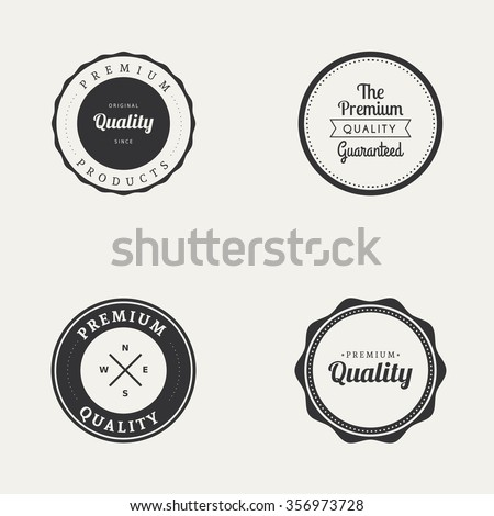 Abstract premium quality labels on a white background - stock vector