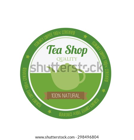 Abstract premium tea label on a white background - stock vector