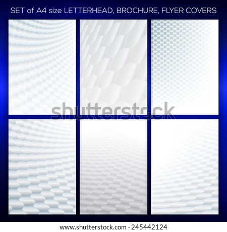 Abstract presentation backgrounds with soft grey tones. Ideal for cover design works. - stock vector
