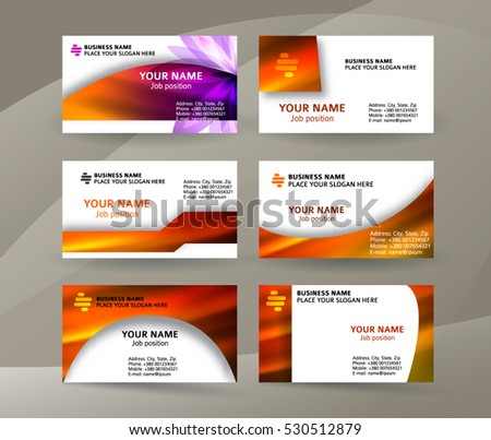 Abstract professional designer business card template stock vector abstract professional and designer business card template or clear and minimal visiting card set name cheaphphosting Gallery