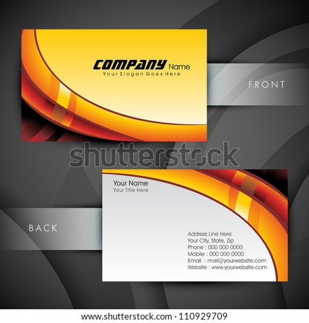 Abstract Professional Designer Business Card Template Stock Vector - Business card template eps