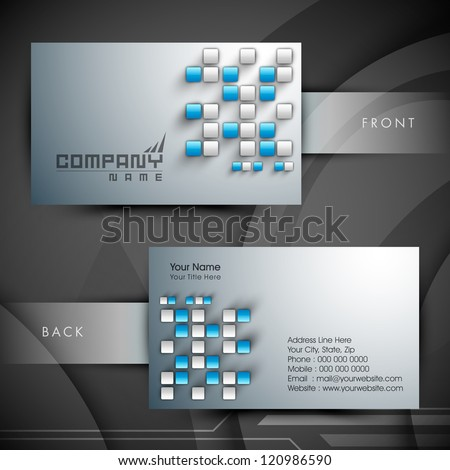 Abstract professional and designer business card template or visiting card set. EPS 10. - stock vector