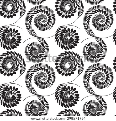 Abstract Psychedelic Art Background. Vector Illustration. Seamless Pattern  EPS10 - stock vector