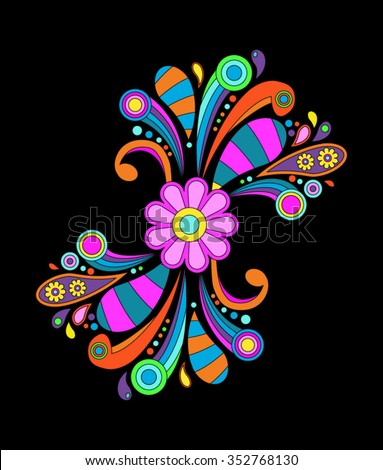 Abstract psychedelic background, eps10 vector - stock vector