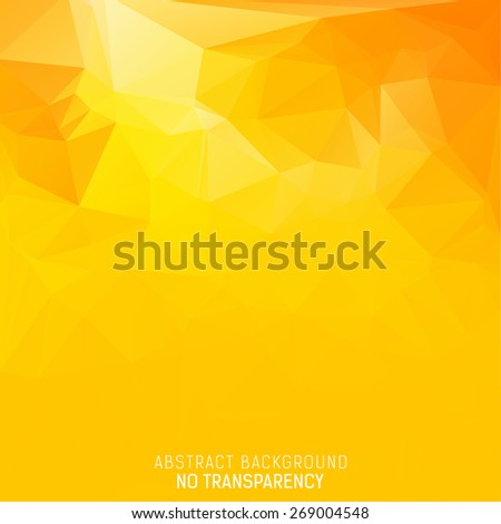 Abstract pure yellow triangular background with polygonal abstract shapes - stock vector