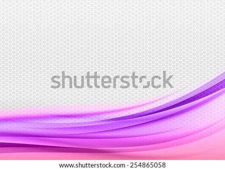 Abstract purple background with grey hexagon. - stock vector
