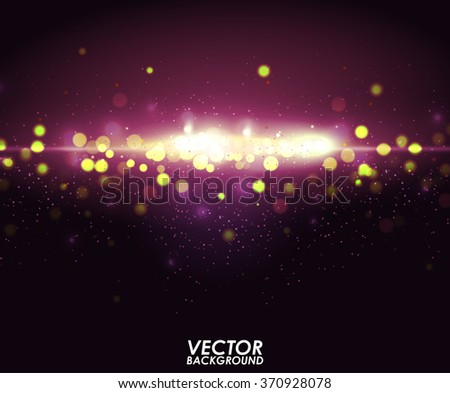 Abstract purple bokeh background. Vector illustration.