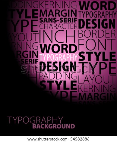 Abstract purple design and typography background - stock vector