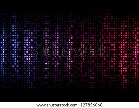 Abstract purple dots on dark background. EPS10 vector - stock vector