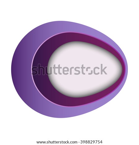 abstract purple oval, company logo, vector