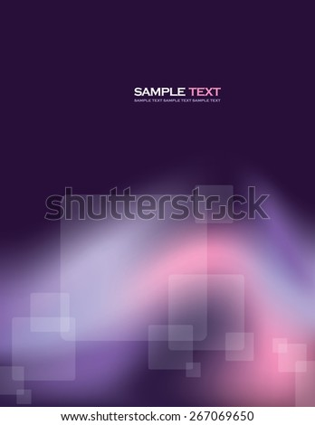 Abstract Purple Vector Background With Transparent Squares. - stock vector