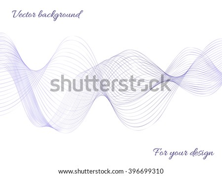 Abstract purple wave blend on a white background. Vector image for design and execution of catalogs, magazines - stock vector