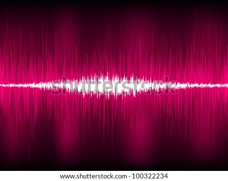 Abstract purple waveform vector background. EPS 8 vector file included - stock vector