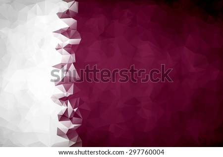Abstract Qatar flag polygon background - stock vector