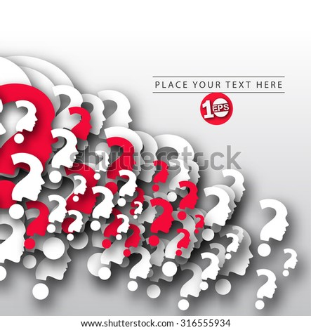 Abstract Question Mark Pattern Design. - stock vector