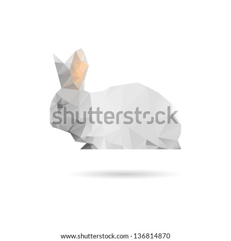 Abstract rabbit isolated on a white backgrounds