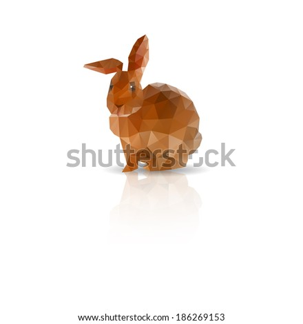 Abstract Rabbit low polygonal vector