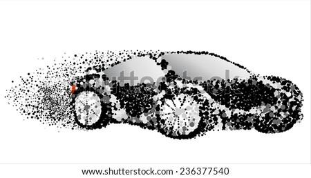 abstract  racing car .Vector circles - stock vector