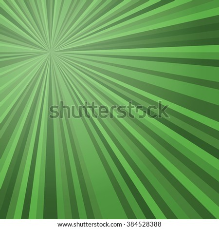 Abstract radial rays Green background. Vector illustration. EPS10